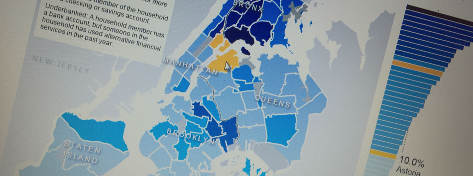 map of unbanked in nyc