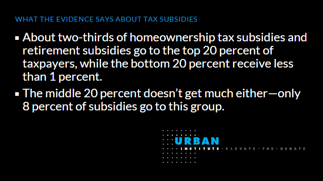 facts about tax subsidies