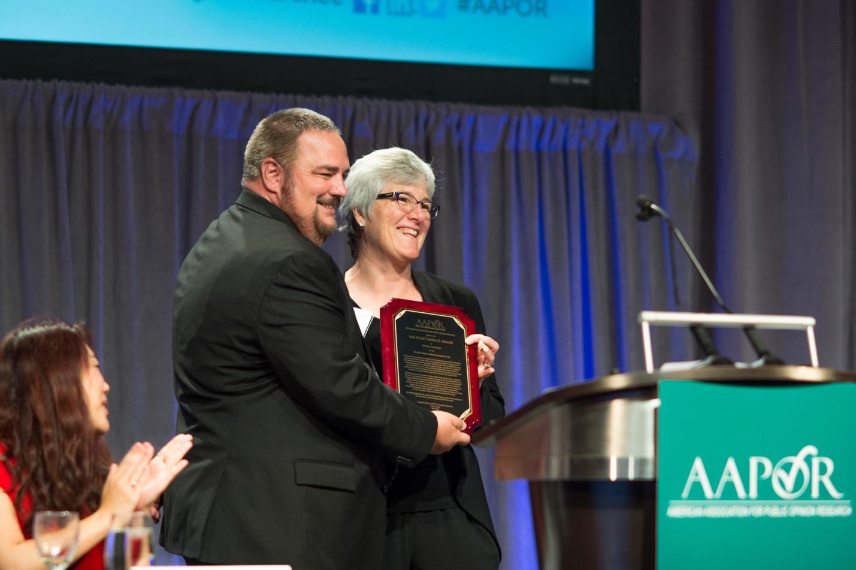 Sharon Long accepts Policy Impact Award