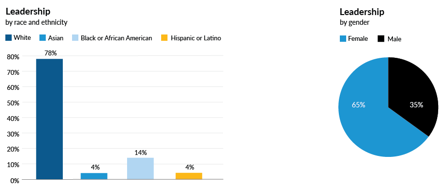 Leadership by race and ethnicity
