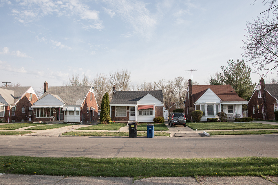 Homes in Detroit's northeast neighborhood, Regent Park. Quicken Loans' tax foreclosure prevention outreach program, Neighbor to Neighbor, has targeted homeowners in this neighborhood.