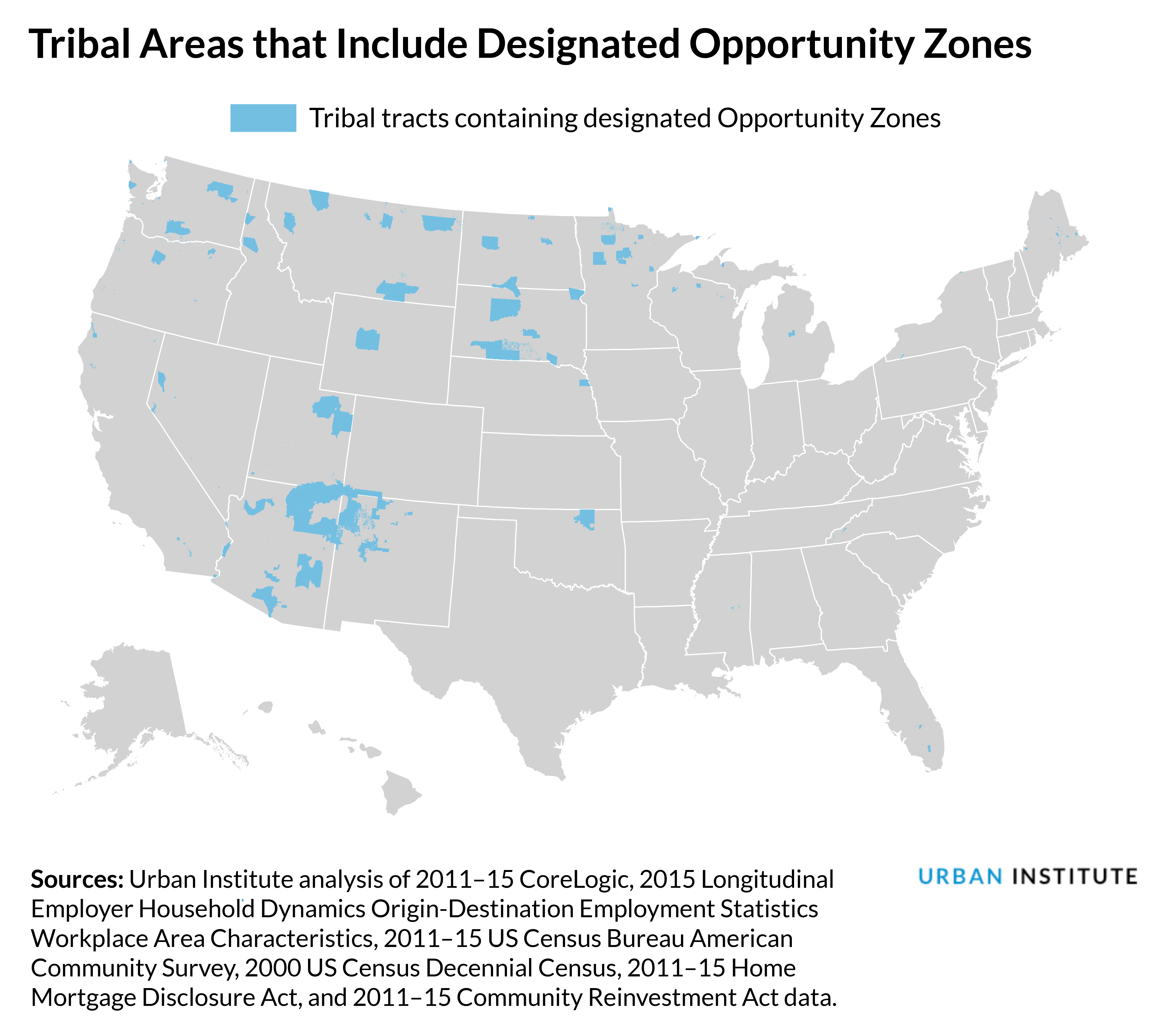 tribal tracts that include opportunity zones