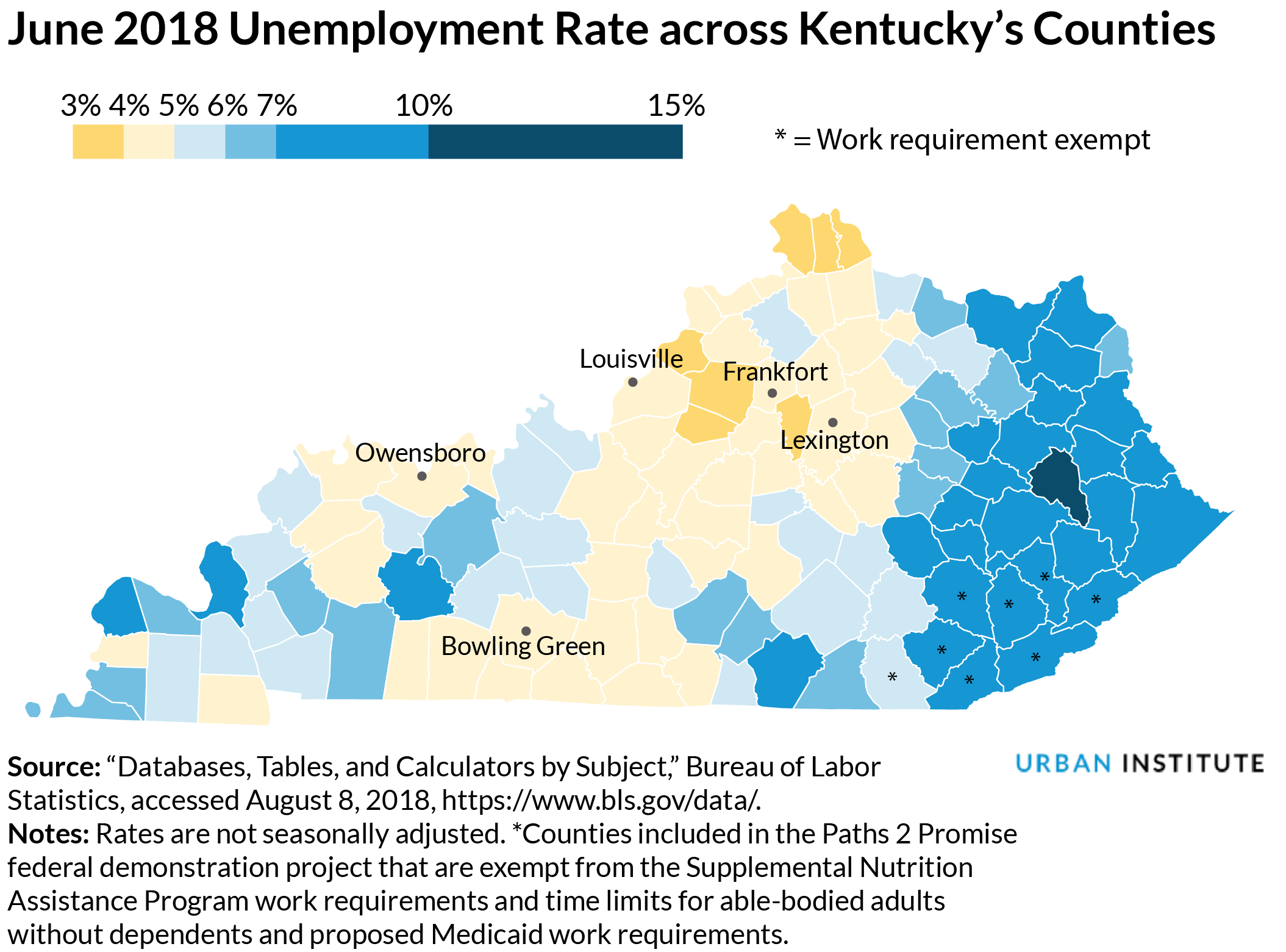 kentucky unemployment map