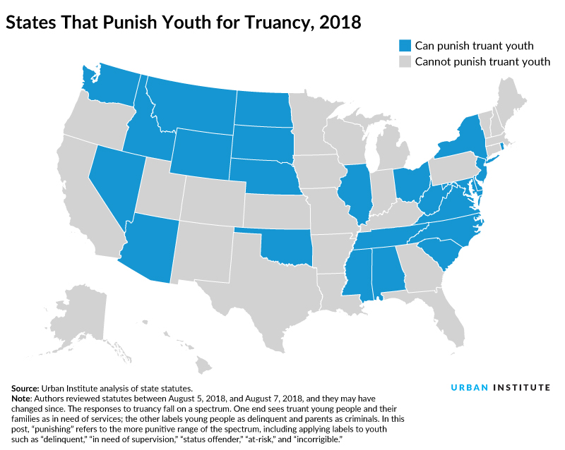 States That Allow Valid Court Order (VCO) Exceptions to Detain Truant Youth, 2014