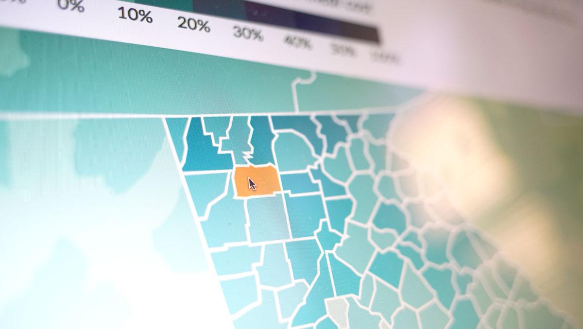 Screenshot of SNAP Map