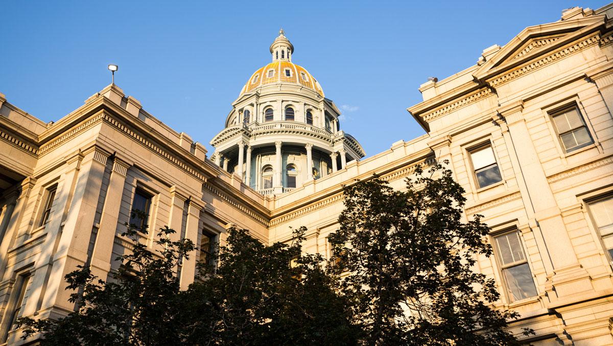 State Capitol Dome in Denver Colorado