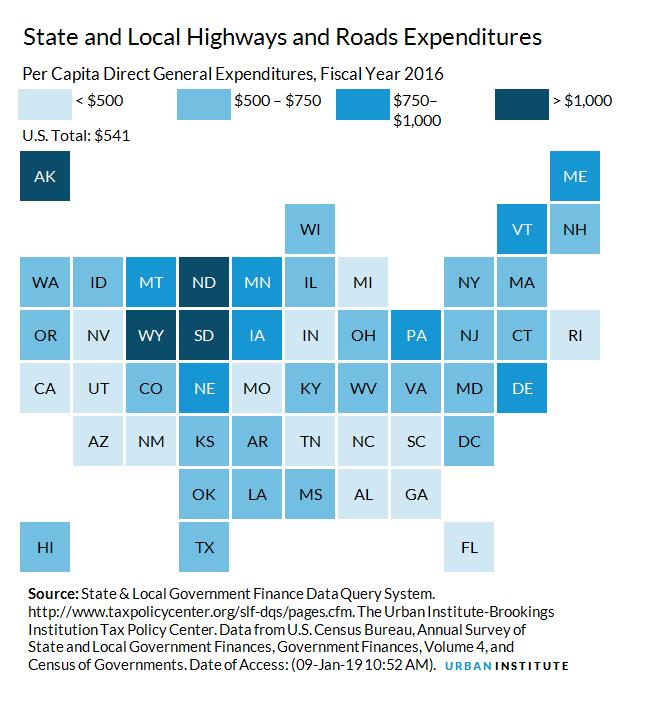 Highway and Road Expenditures   Urban Institute