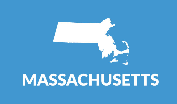 state outline of massachusetts