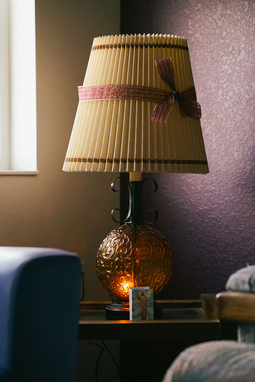 Her brother helped her decorate her apartment and bought Maria this lamp, which she said visitors always compliment.