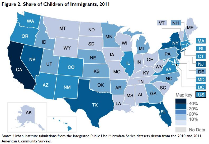 Figure 2. Share of Children of Immigrants