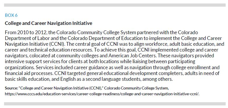 Box 6. College and Career Navigation Initiative
