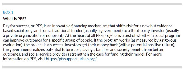 Box 1. What Is PFS?
