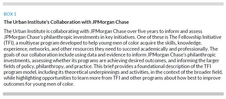 Box 1. The Urban Institute's Collaboration with JP Morgan Chase